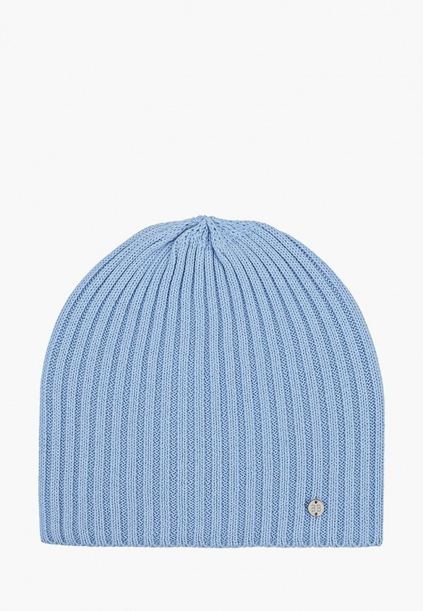 шапка button blue для девочки, голубая