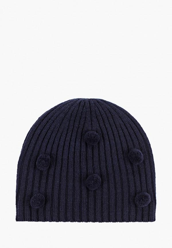 шапка button blue для девочки, синяя
