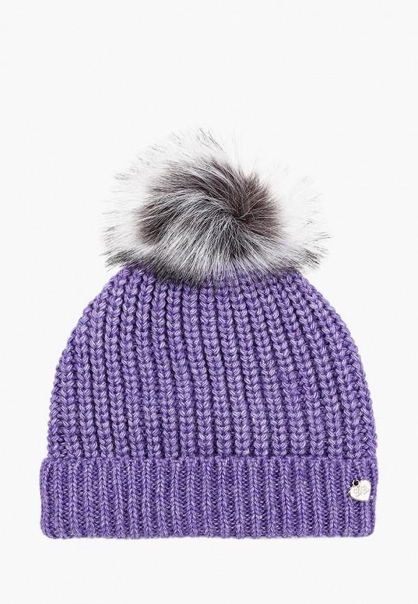 шапка button blue для девочки, фиолетовая