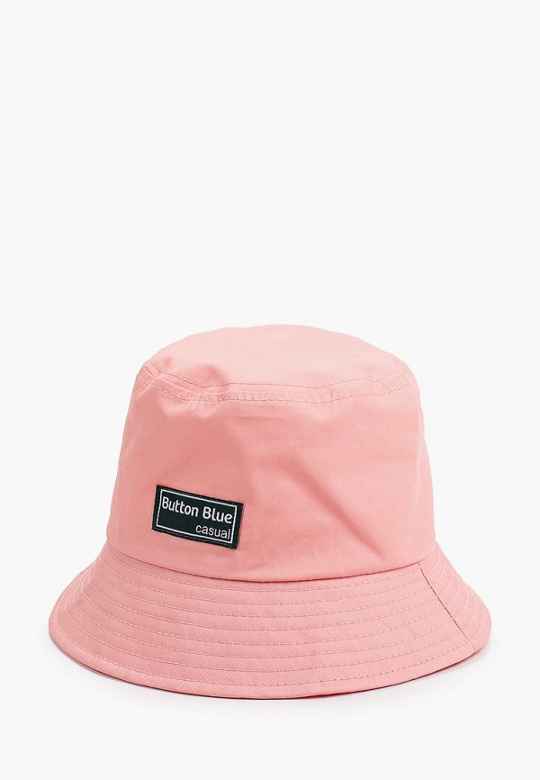 панама button blue для девочки, розовая