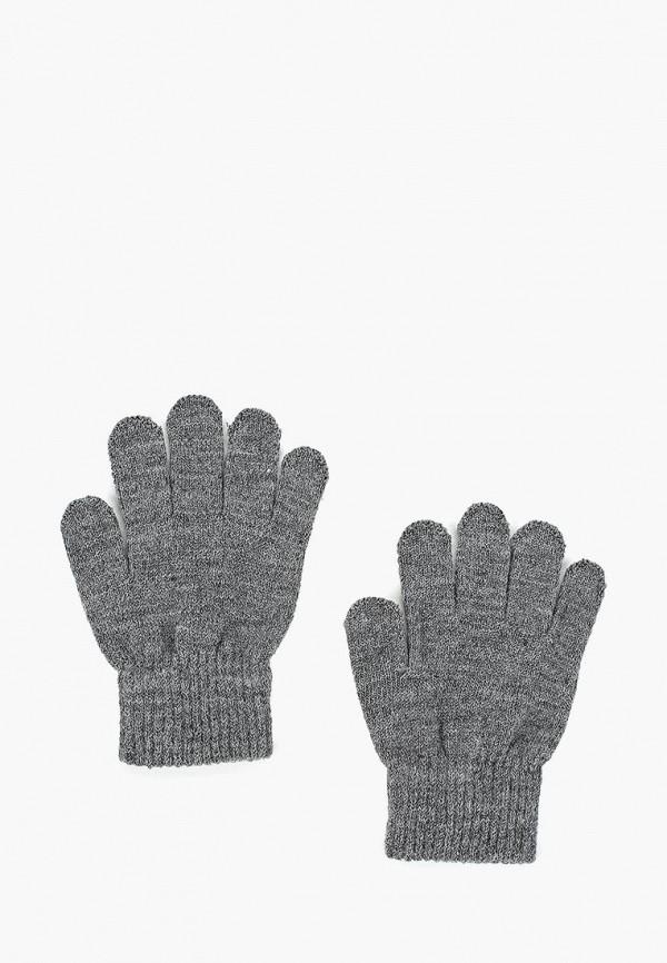 Купить Перчатки Button Blue, BU019DBCRRP1, серый, Осень-зима 2018/2019