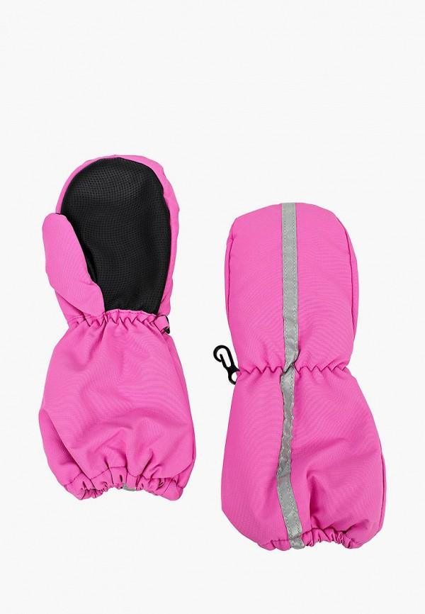 варежки button blue для девочки, розовые