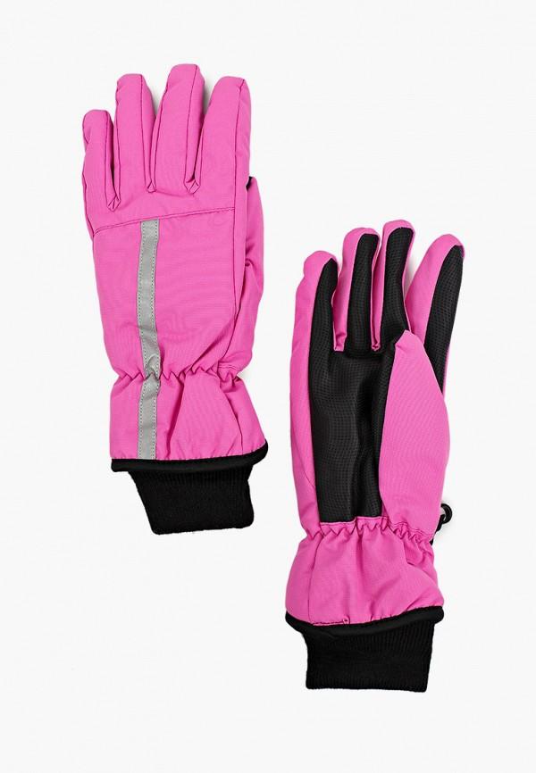перчатки button blue для девочки, розовые