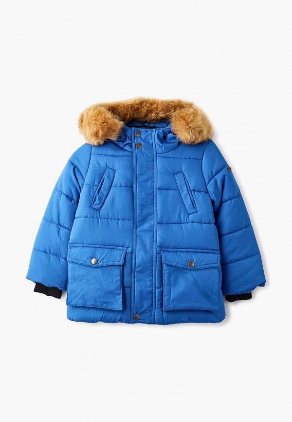 куртка button blue для мальчика, синяя