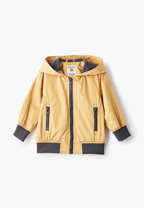 куртка button blue для мальчика, желтая