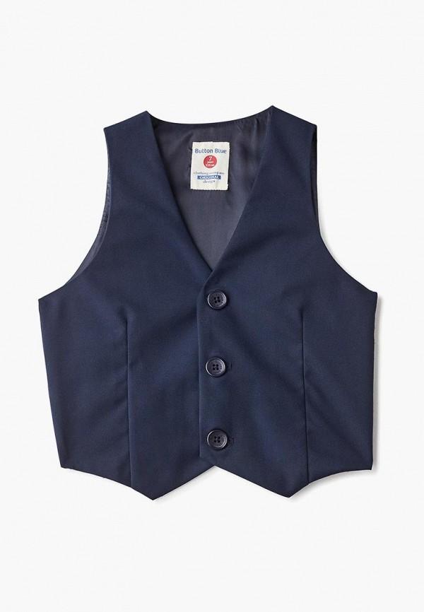 жилет button blue для мальчика, синий