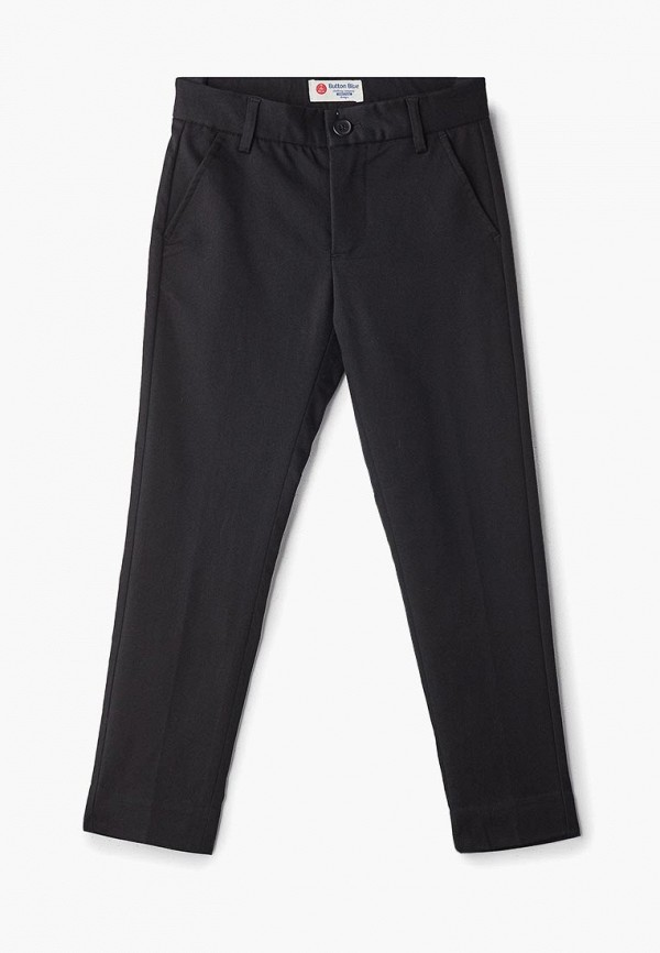 брюки button blue для мальчика, черные