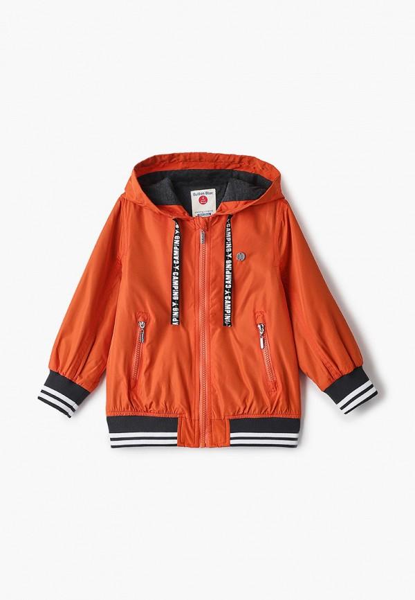 куртка button blue для мальчика, оранжевая