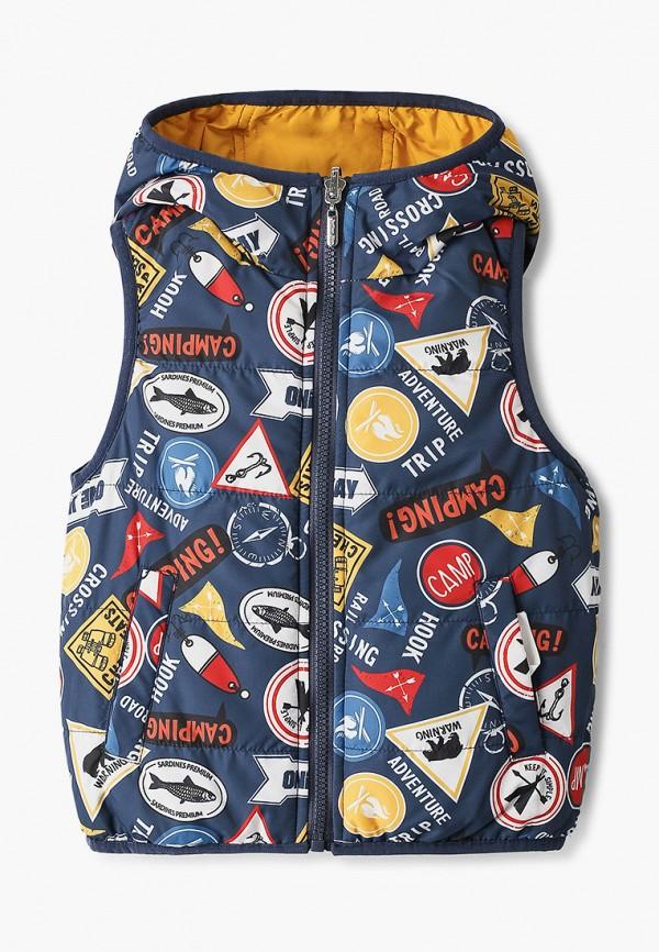 жилет button blue для мальчика, разноцветный