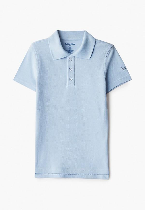 поло button blue для мальчика, голубое