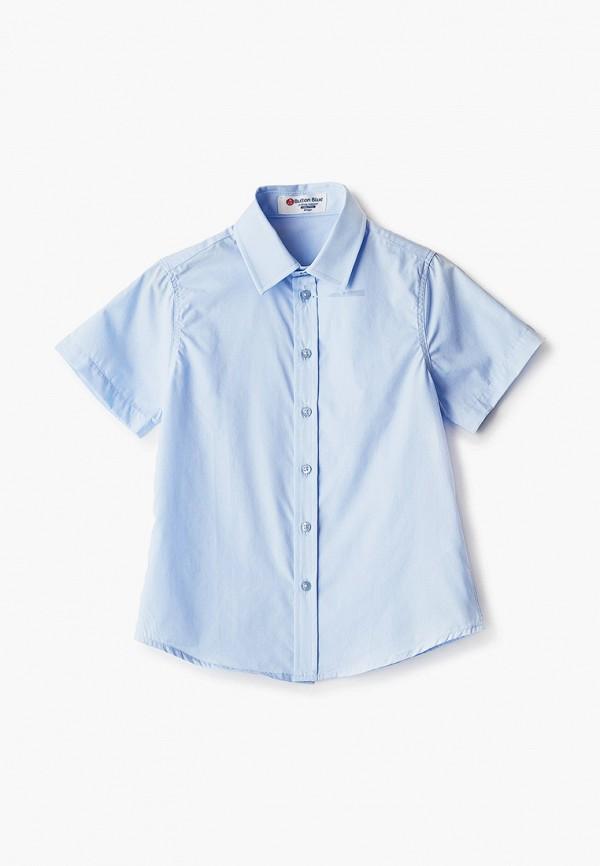 рубашка button blue для мальчика, голубая