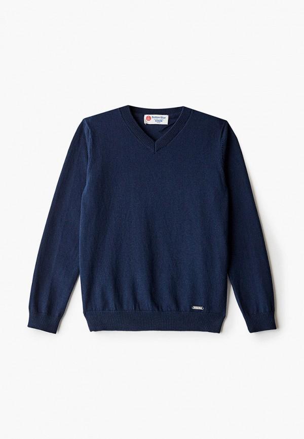 пуловер button blue для мальчика, синий