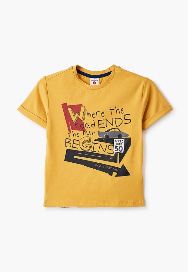 футболка с коротким рукавом button blue для мальчика, желтая