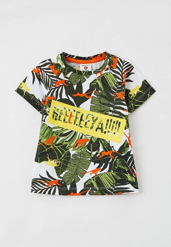футболка с коротким рукавом button blue для мальчика, разноцветная