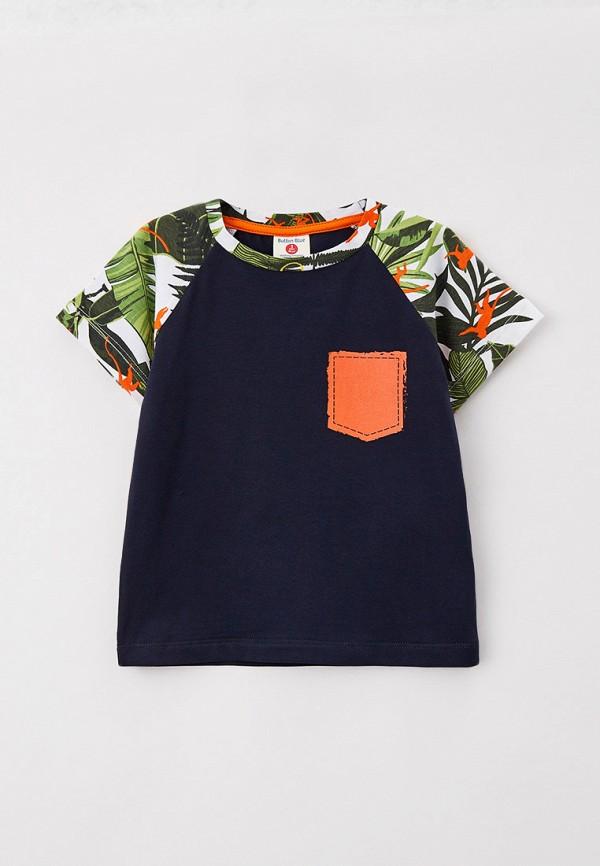 футболка с коротким рукавом button blue для мальчика, синяя