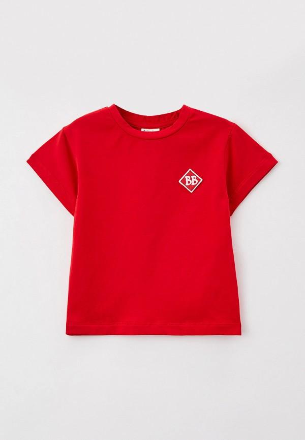 футболка с коротким рукавом button blue для мальчика, красная