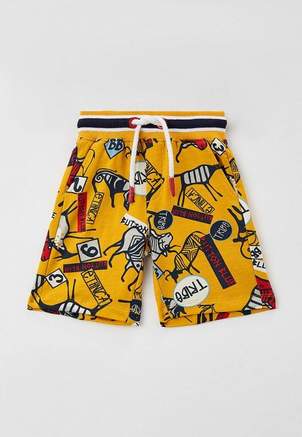спортивные шорты button blue для мальчика, желтые
