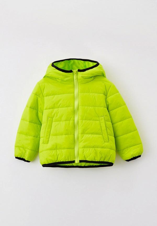 утепленные куртка button blue для мальчика, зеленая