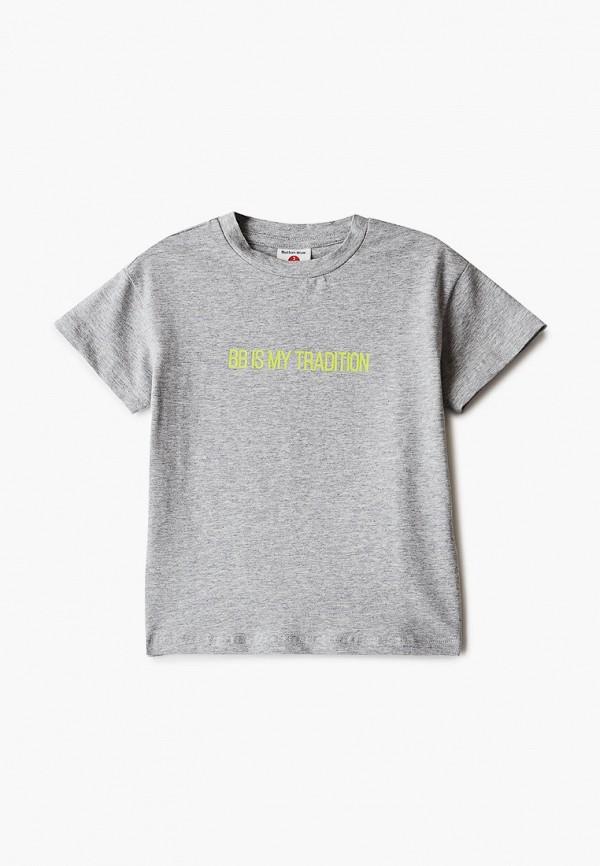 футболка с коротким рукавом button blue для мальчика, серая