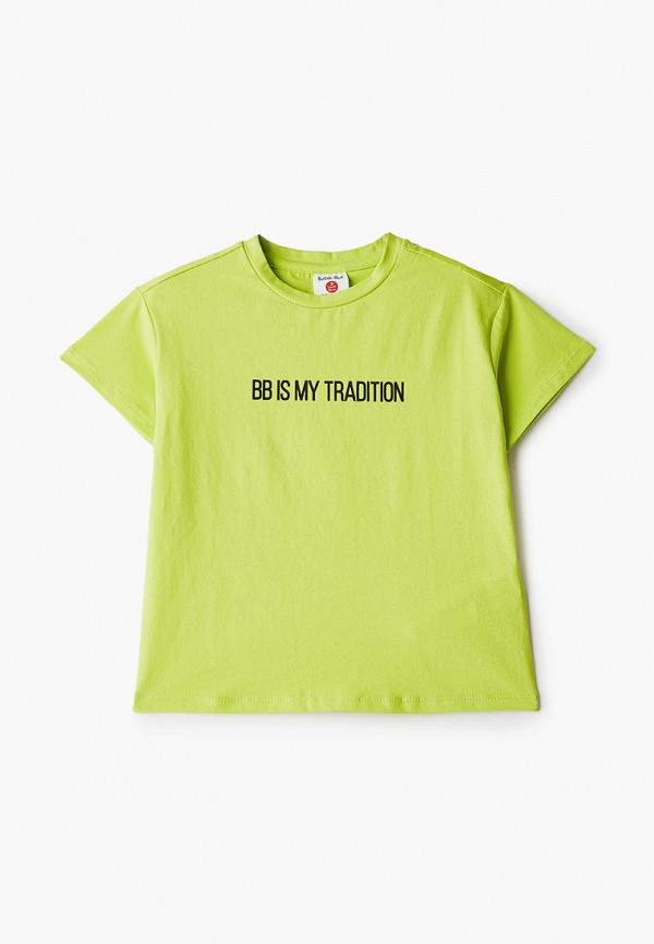 футболка с коротким рукавом button blue для мальчика, зеленая