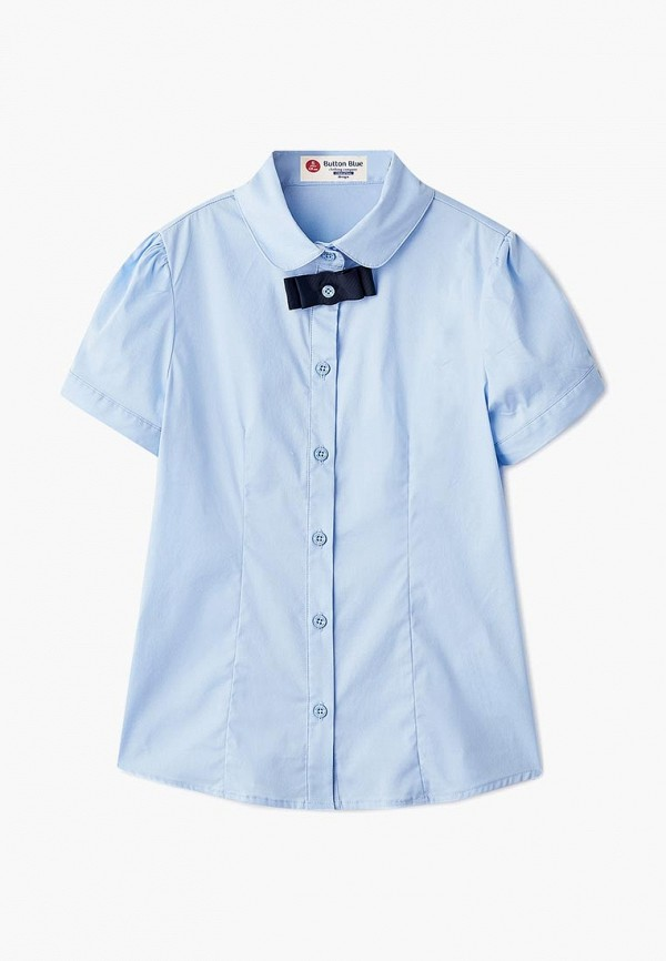 Купить Блуза Button Blue, BU019EGBQET8, голубой, Осень-зима 2018/2019