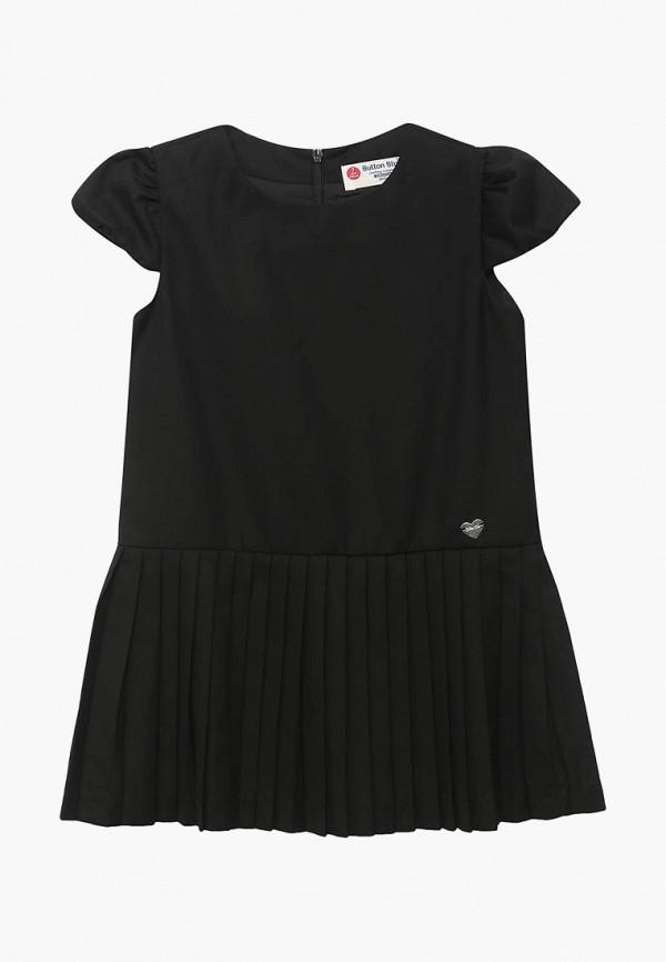 повседневные платье button blue для девочки, черное