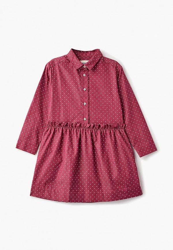 Купить Платье Button Blue, BU019EGCRSK3, бордовый, Осень-зима 2018/2019