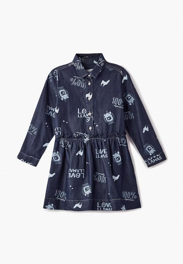 Купить Платье джинсовое Button Blue, BU019EGCRSK4, синий, Осень-зима 2018/2019