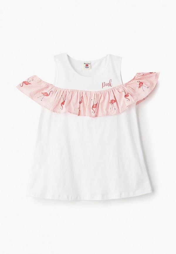 повседневные платье button blue для девочки, белое