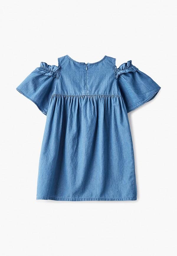 Фото 2 - Платье Button Blue синего цвета