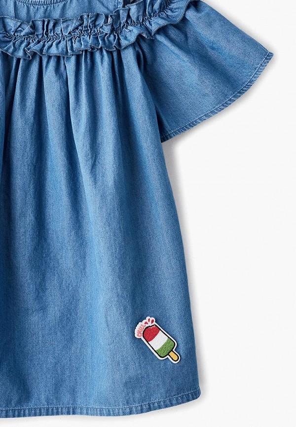 Фото 3 - Платье Button Blue синего цвета