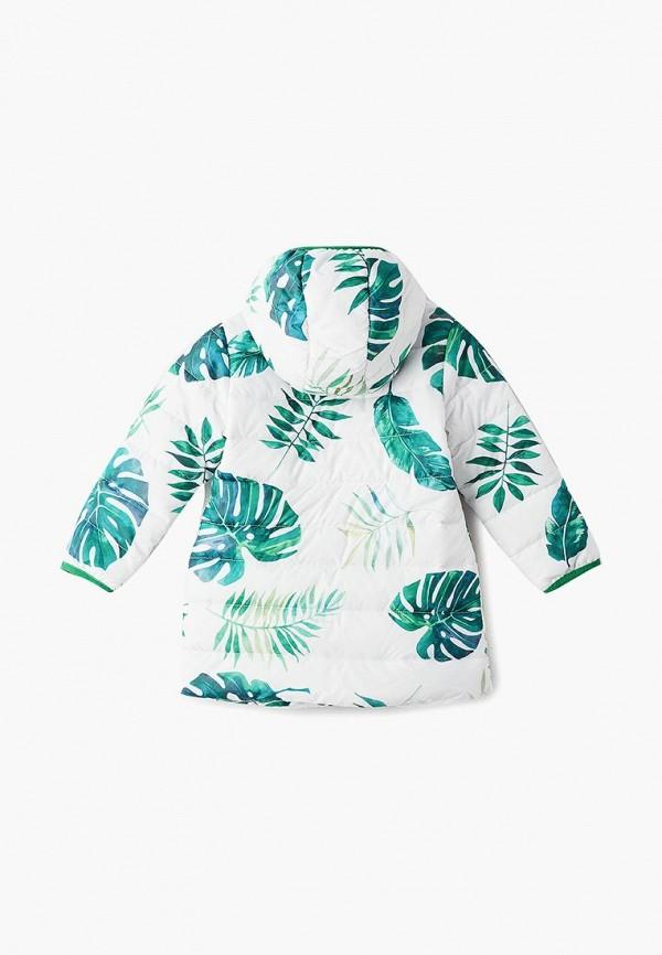 Фото 2 - Куртку утепленная Button Blue белого цвета