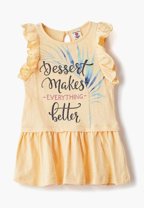 повседневные платье button blue для девочки, желтое