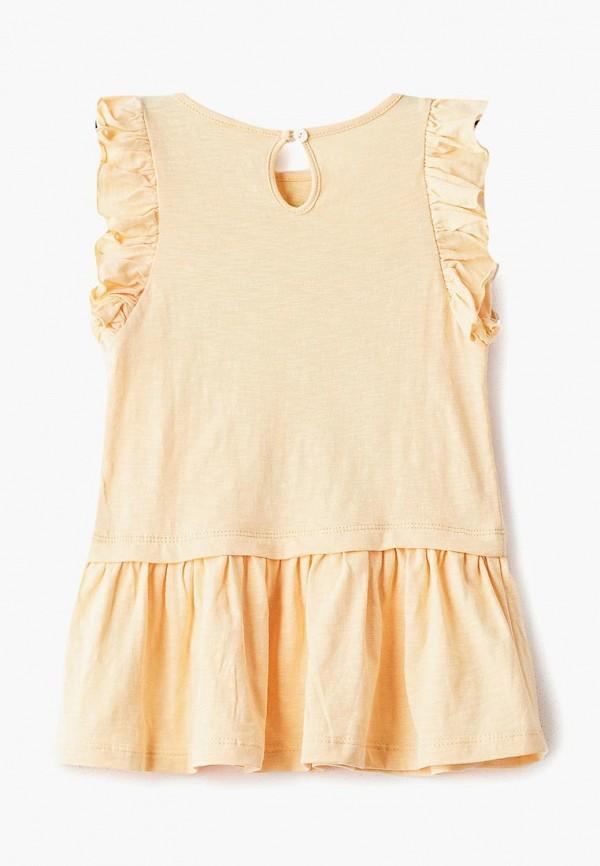 Фото 2 - Платье Button Blue желтого цвета