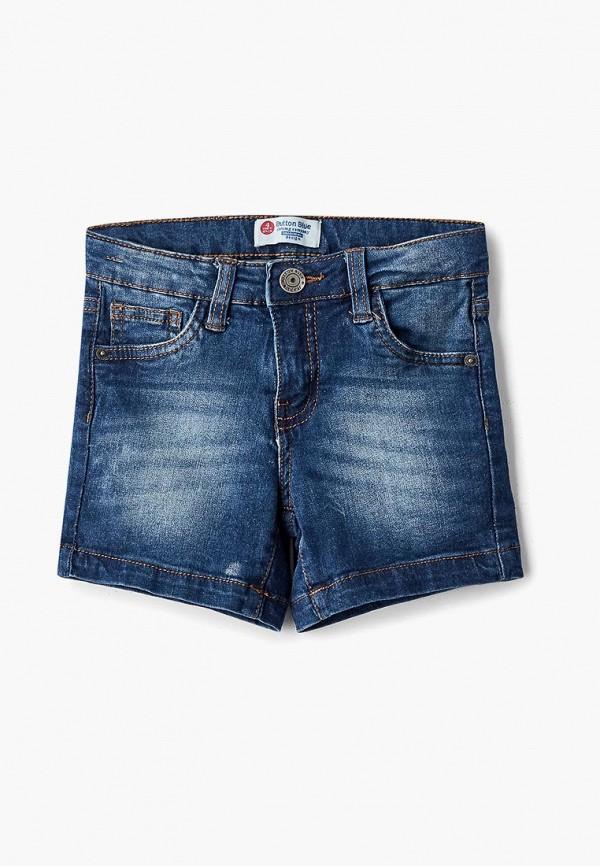 джинсовые шорты button blue для девочки, синие