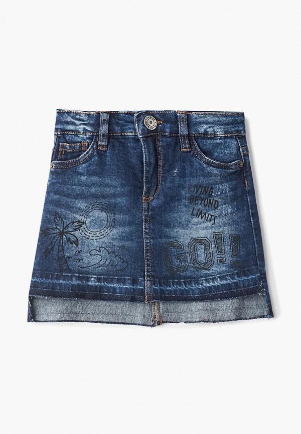 джинсовые юбка button blue для девочки, синяя