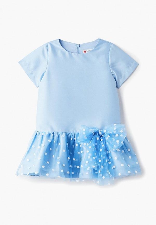 платье button blue для девочки, голубое