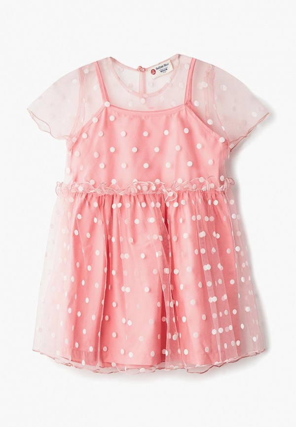 платье button blue для девочки, розовое