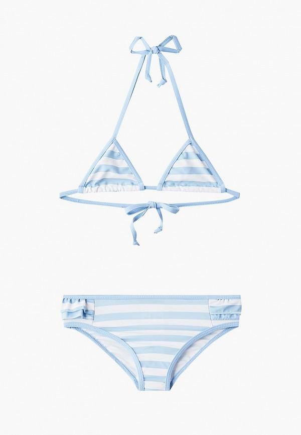 купальник button blue для девочки, голубой