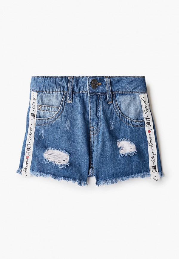 шорты button blue для девочки, синие