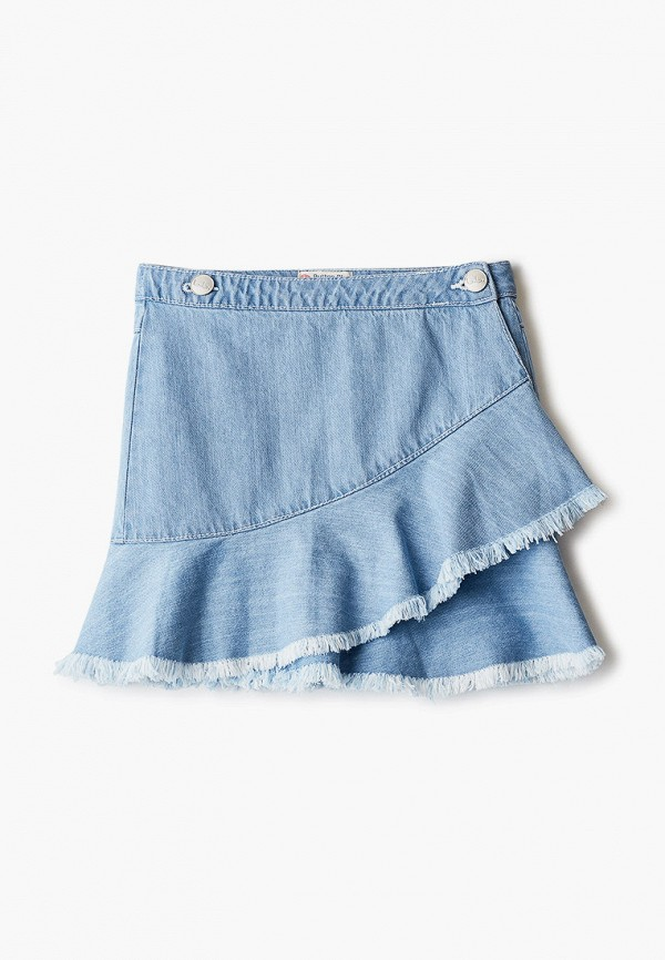 юбка button blue для девочки, голубая