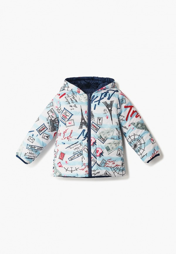 куртка button blue для девочки, разноцветная