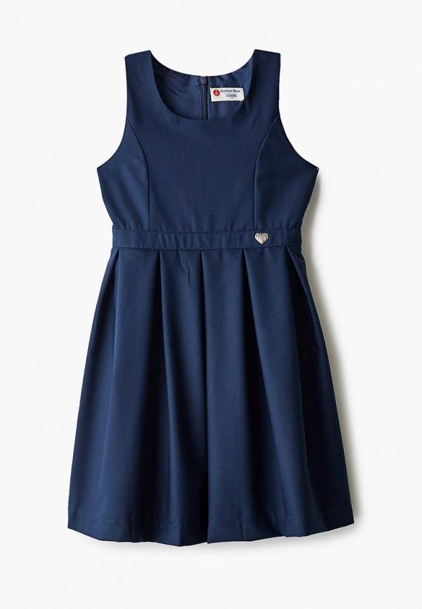 повседневные платье button blue для девочки, синее