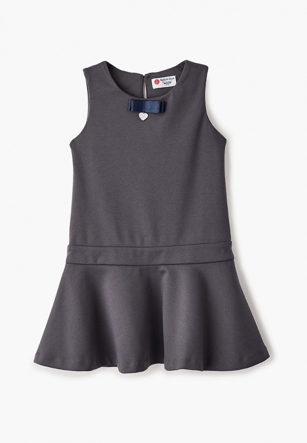 повседневные платье button blue для девочки, серое