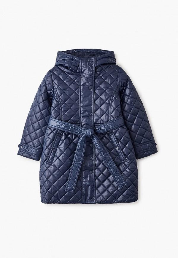 куртка button blue для девочки, синяя