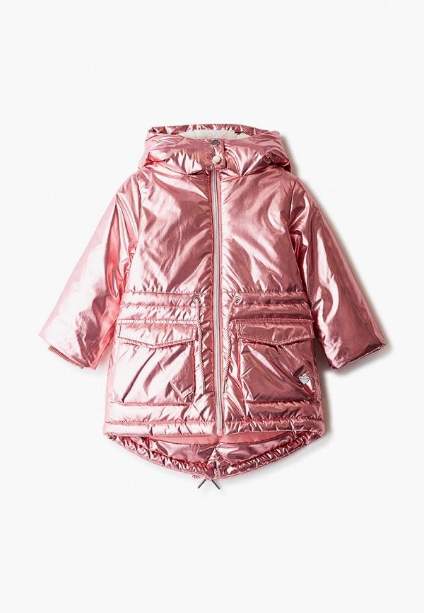 парка button blue для девочки, розовая