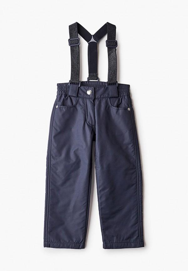 утепленные брюки button blue для девочки, синие
