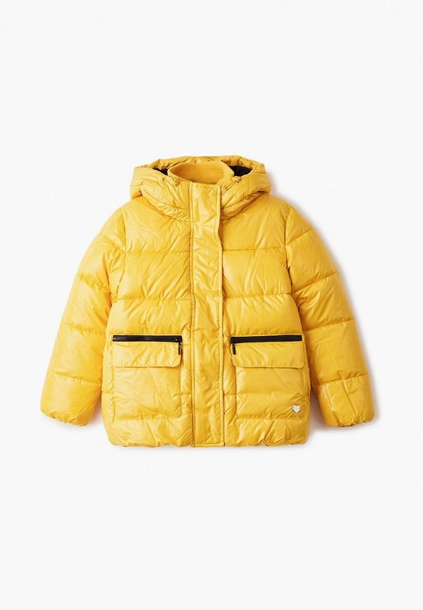 утепленные куртка button blue для девочки, желтая