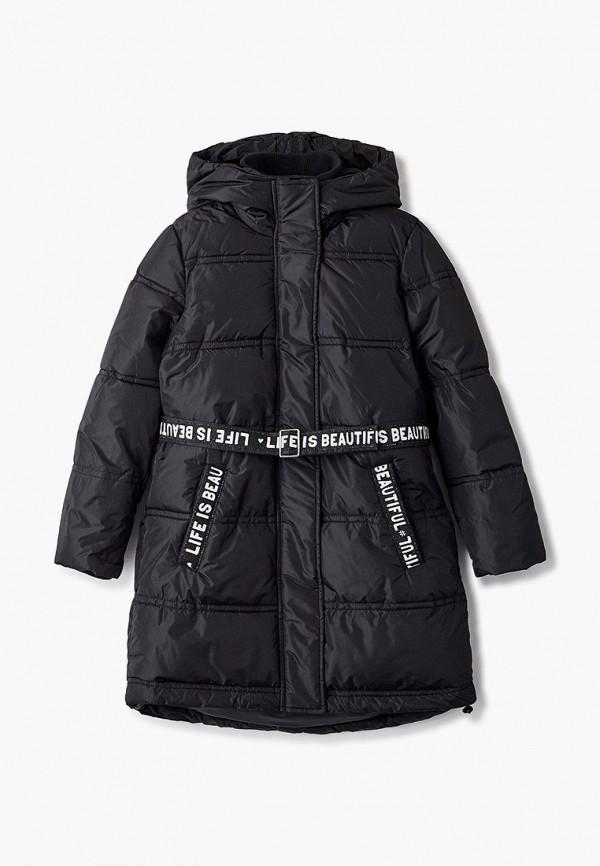 куртка button blue для девочки, черная