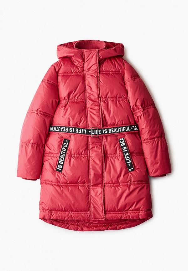 куртка button blue для девочки, розовая